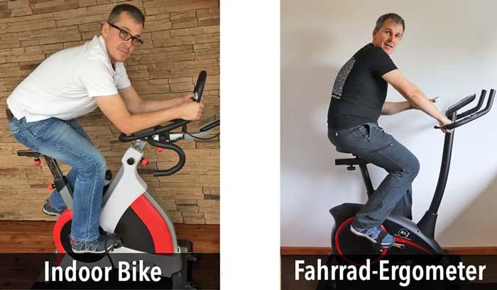 Sitzposition Profi Ergometer vs. Fahrradergometer