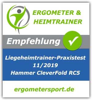 Liegeheimtrainer CleverFold empfohlen von ergometersport.de