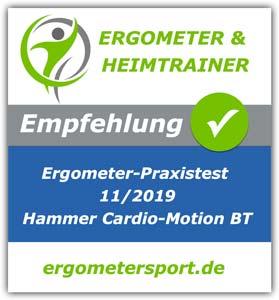 Ergometer Testsiegel Hammer Cardio Motion BT
