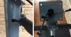 Das Bild zeigt die Kabelverlegung am Trainingscomputer des Skandika Wiry