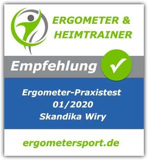 Skandika Wiry Ergometer erhält Empfehlung für Personen bis 1.80 Meter