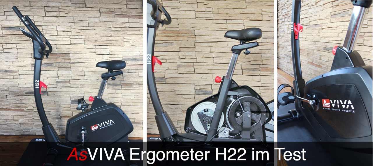 Das Bild zeigt den Asviva H22 Ergomter im Praxistest