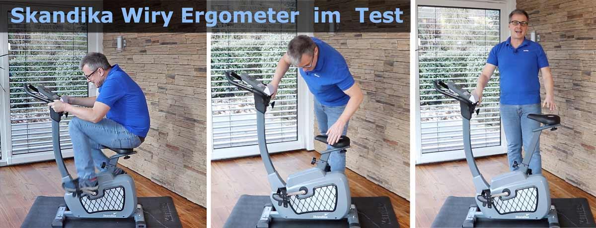 Das Bild zeigt Armin beim Skandika Wiry Praxistest