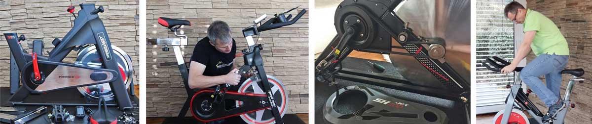 Armin beim Speedbike testen
