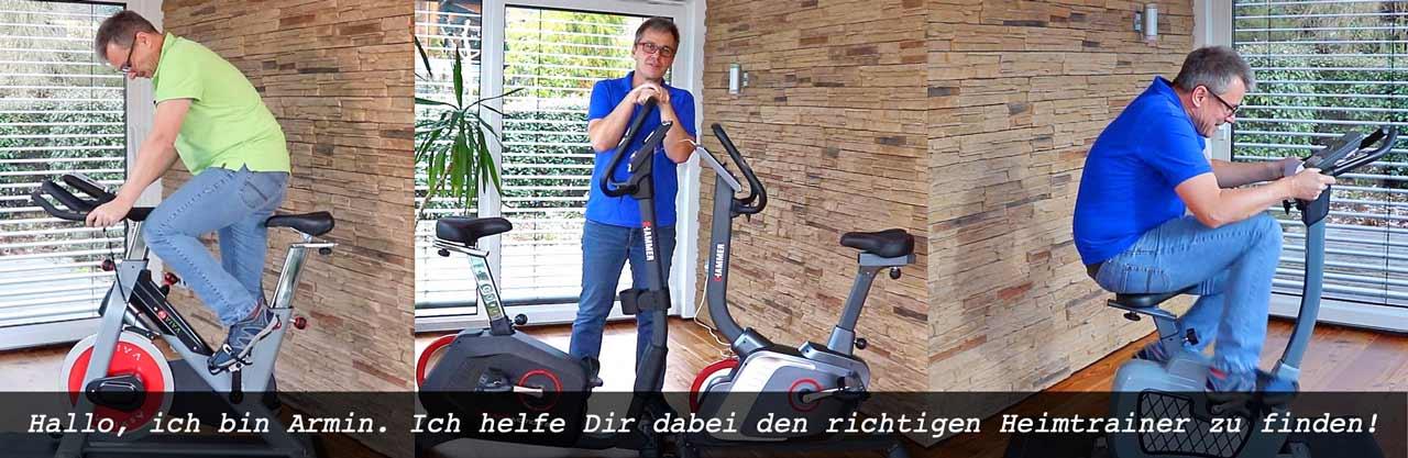 Das Bild zeigt Armin Lenz beim Ergometer Test
