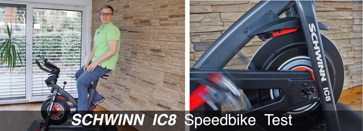 Das Bild zeigt das Schwinn Speedbike IC8 im Test