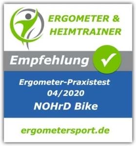 Das Bild zeigt ein Empfehlungssiegel für das Nohrd Bike