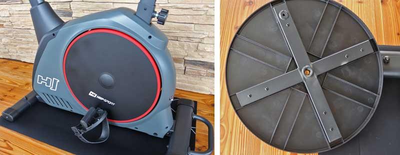 Das Bild zeigt die antriebsscheibe des Hop-Sport Stike von aussen und von innen