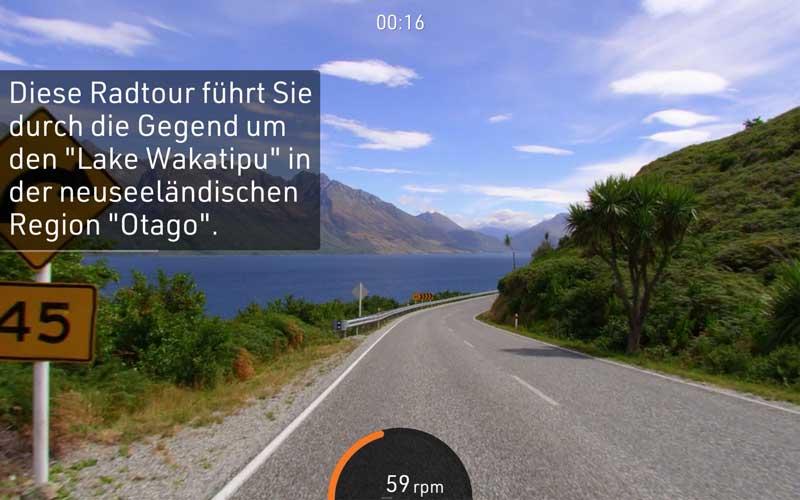 Das Bild zeigt eine BitGym Strecke in Neuseeland