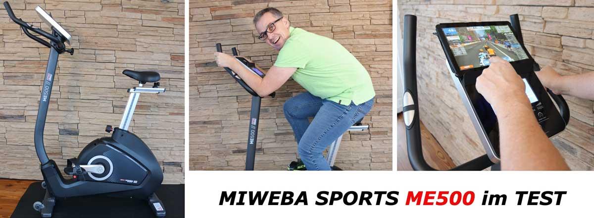 Das Bild zeigt Armin beim testen des Miweba ME500 Ergometers