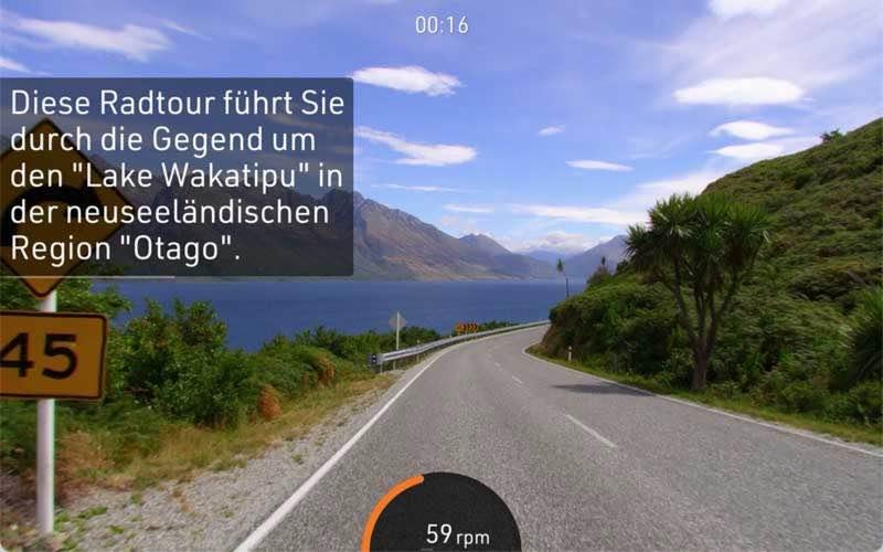 Das Bild zeigt die BitGym Streckenansicht mit Beschreibung der Region und dortigen Highlights.