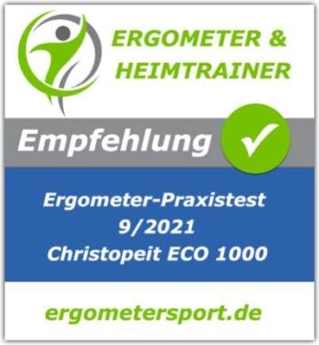 Empfehlungssiegel für den Christopeit E1000
